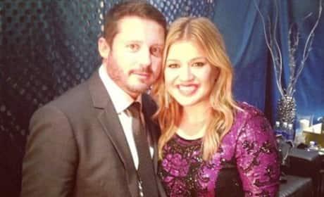 Brandon Blackstock with Kelly Clarkson