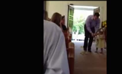 Father Steps in as Flower Girl After Daughter Buckles Under Pressure
