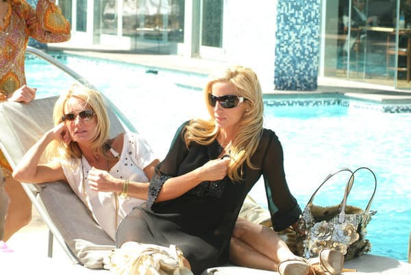 Kim Richards and Camille Grammer