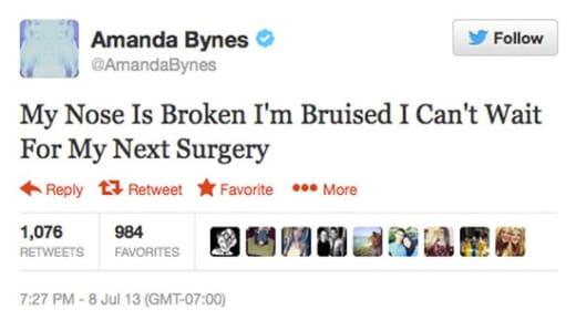 Amanda Nose Tweet