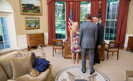 Child Laments Oval Office Visit, Is SOOOOOO Bored