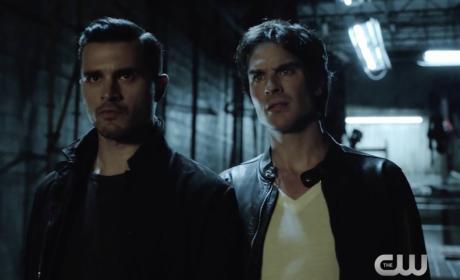 Enzo and Damon on TVD
