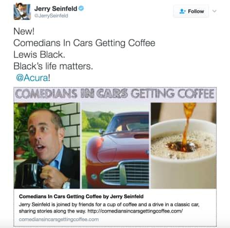 Jerry Seinfeld Black Lives Matter Joke