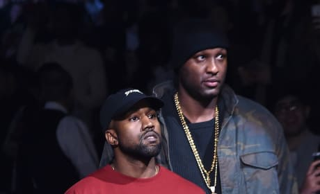 Kanye West and Lamar Odom