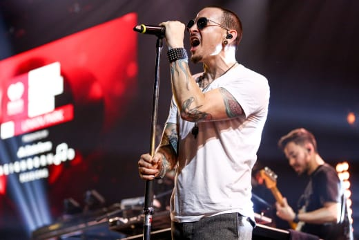 Chester Bennington On Stage