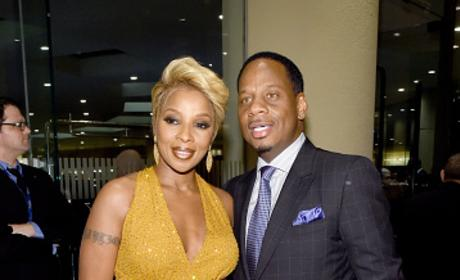 Mary J. Blige & Martin Isaacs at Pre-GRAMMY Gala