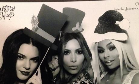 Kendall Jenner, Kim Kardashian and Blac Chyna Take a Holiday Photo