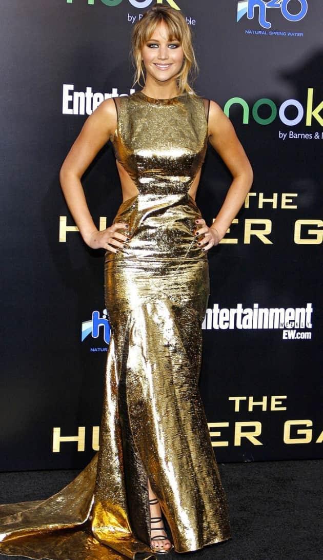 Jennifer Lawrence in Gold