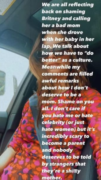 Emily Ratajkowski IG - shame on you all (Britney analogy)
