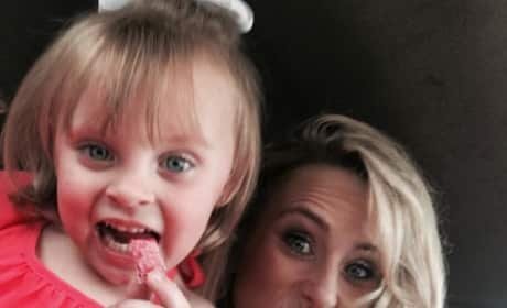Leah Messer with Adalynn