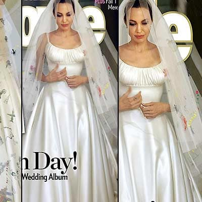 Angelina Jolie Wedding Dress Beautiful The Hollywood Gossip