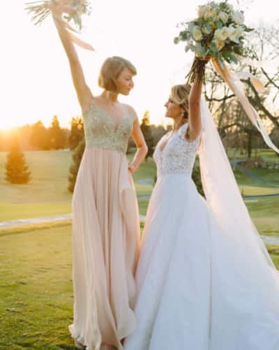 Taylor Swift and BFF Britany Maack on her wedding day