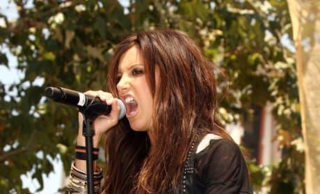 Ashley on the Mic