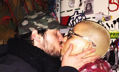 Amber Rose and Val Chmerkovskiy Kiss