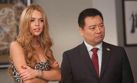 Lindsay Lohan Glee Pic