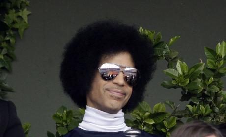 Prince at French Tennis Open in Paris