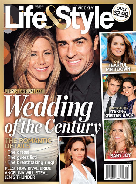 Jennifer Aniston and Justin Theroux Wedding