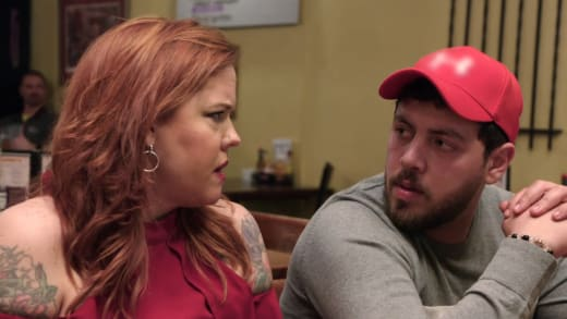 Rebecca Parrott and Zied Hakimi Have Tension at the Table