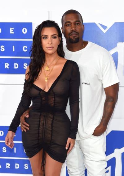 Kim and Kanye at the VMAs
