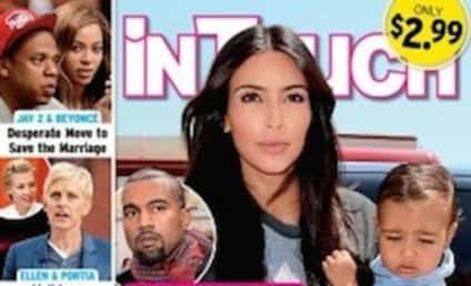 Kim Kardashian and Kanye West: Battling for Custody of Daughter?!?