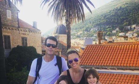 Trista Sutter and Family in Croatia