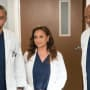 Jackson, Catherine and Richard on Grey's Anatomy Season 14 Episode 16