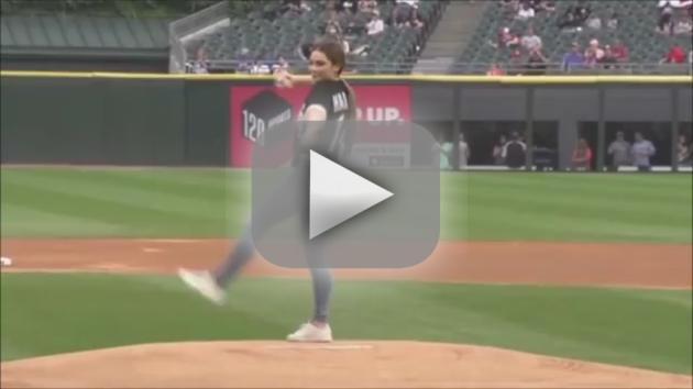 McKayla Maroney First Pitch