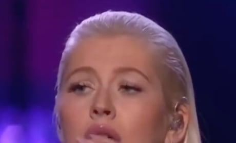 Christina Aguilera Performs at AMAs