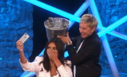 Kim Kardashian Takes Ice Bucket Challenge on Ellen: See the Clip!