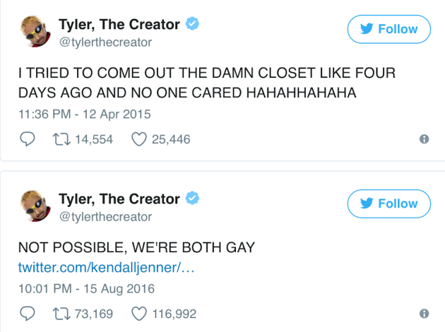 Tyler The Creator Did He Just Come Out As Gay The Hollywood Gossip