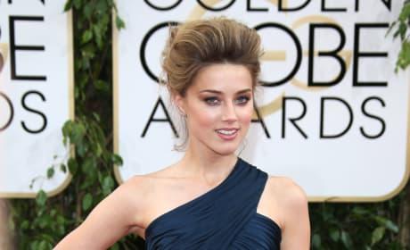 Amber Heard at the Golden Globes