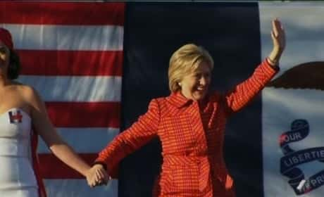Katy Perry Supports Hillary Clinton in Iowa