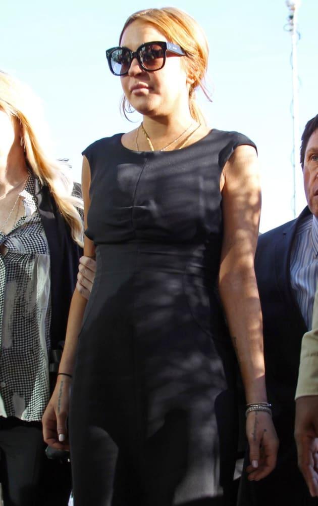 Lindsay Outside Court