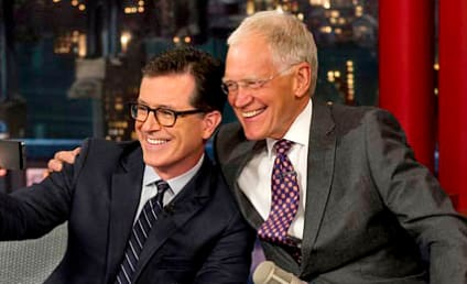 Stephen Colbert Appears on The Late Show, Talks Boobs