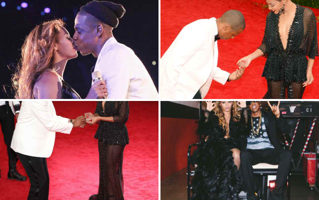 Beyonce and jay kiss