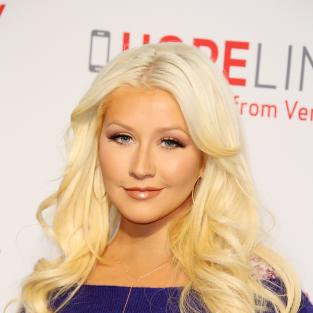 Christina Aguilera in Blue