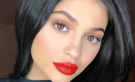 Kylie Jenner and Red Lips