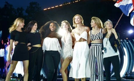 "Taylor Swift Brings Famous Friends on Stage for ""Style"" Performance"