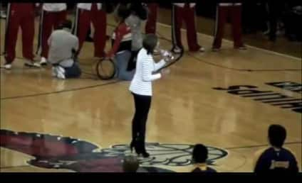 Keri Hilson Forgets Words to National Anthem