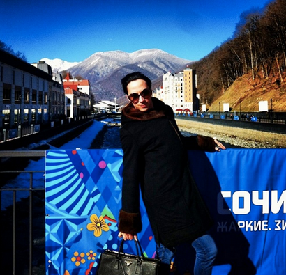 Johnny Weir in Sochi