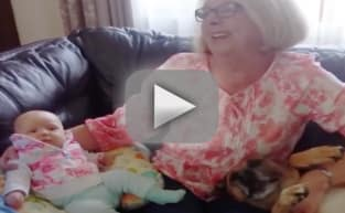 Dog Refuses to Let Grandma Hold Newborn, Insists HE's the Baby