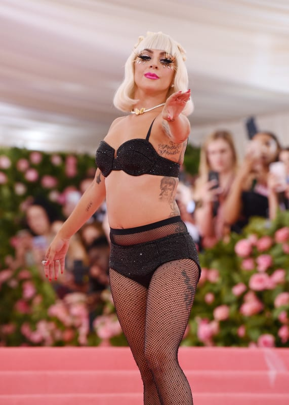 Lady gaga in black lingerie