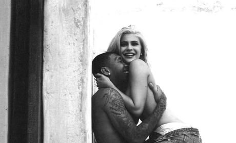 Kylie Jenner Topless with Tyga