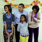 Barack, Michelle, Malia and Sasha Obama
