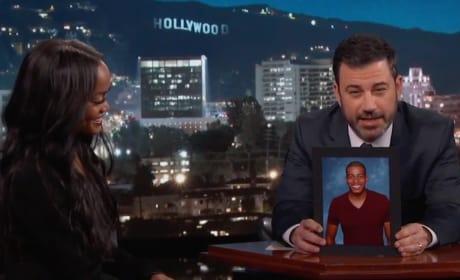 Jimmy Kimmel and Rachel Lindsay