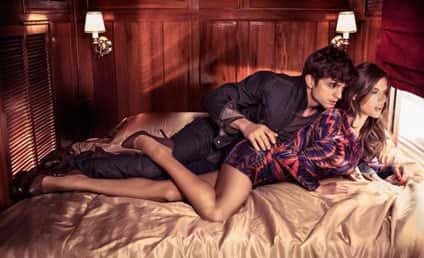 Cuddling for Colcci: Ashton Kutcher and Alessandra Ambrosio