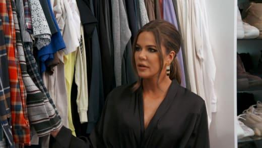 Khloe Kardashian in a Man's Closet