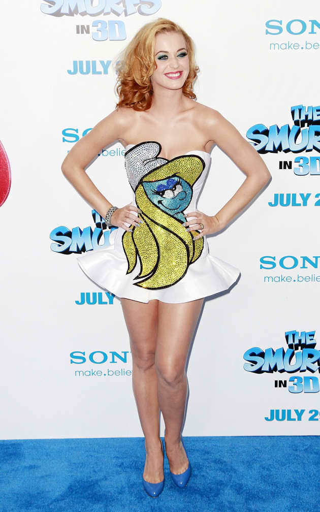 Katy Perry Smurfette Dress