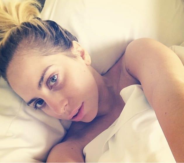 Lady Gaga No Makeup Instagram Selfie