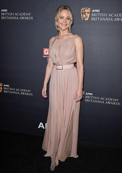 Jennifer Lawrence Attends 2016 AMD British Academy Britannia Awards